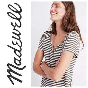 MADEWELL Choral Split Neck T-shirt Small S